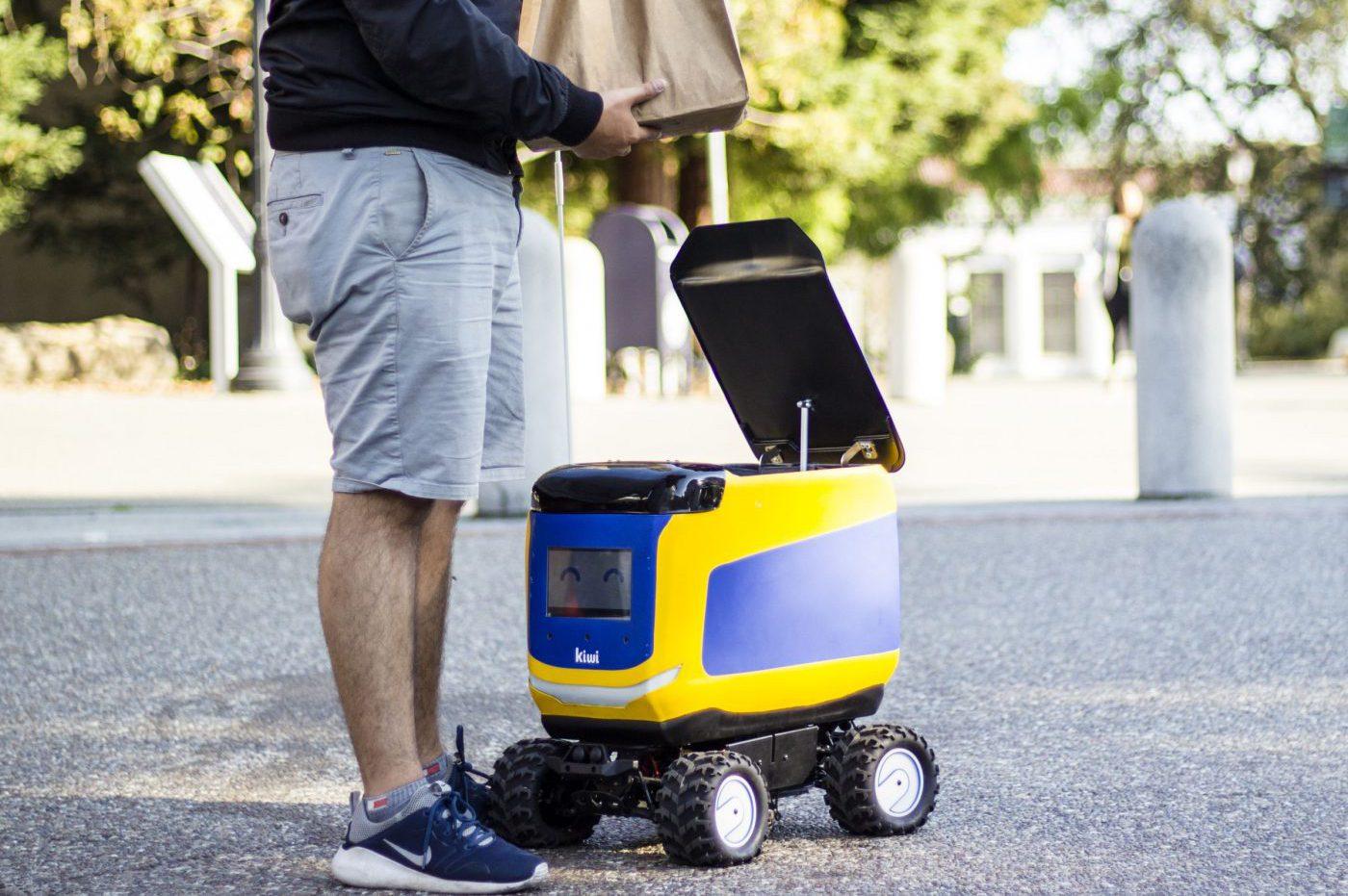 Un robot de livraison de Kiwi prend feu