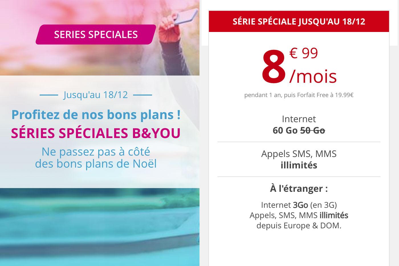 Le forfait mobile illimité B&You à 9,99€ expire ce soir, Free aussi