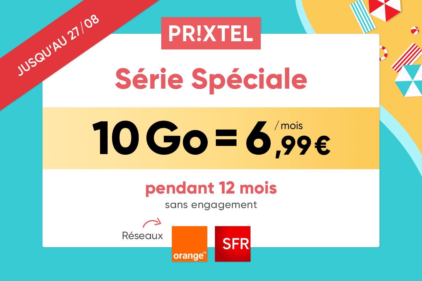 Forfait mobile Prixtel: mini prix, zéro engagement et 100% flexible