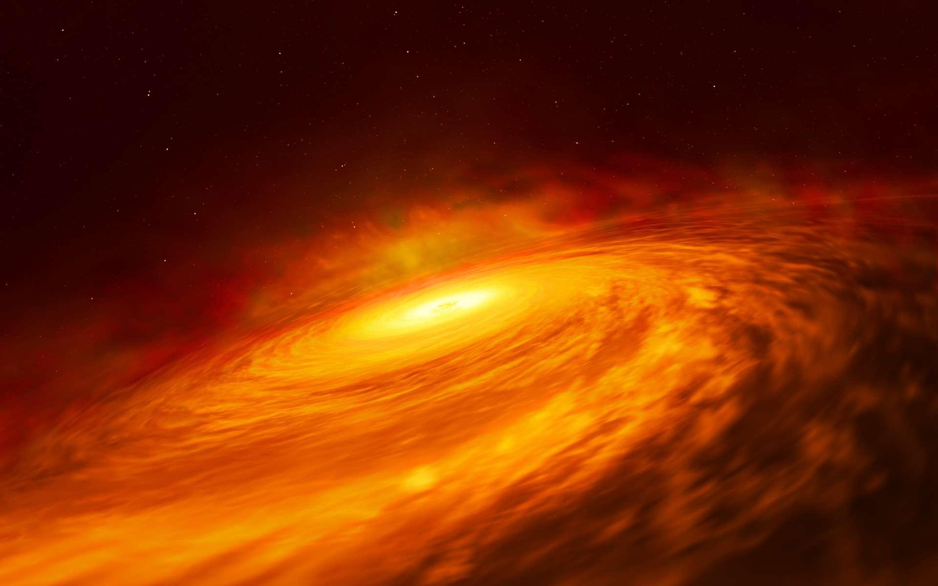 Un trou noir record de 40 milliards de masses solaires