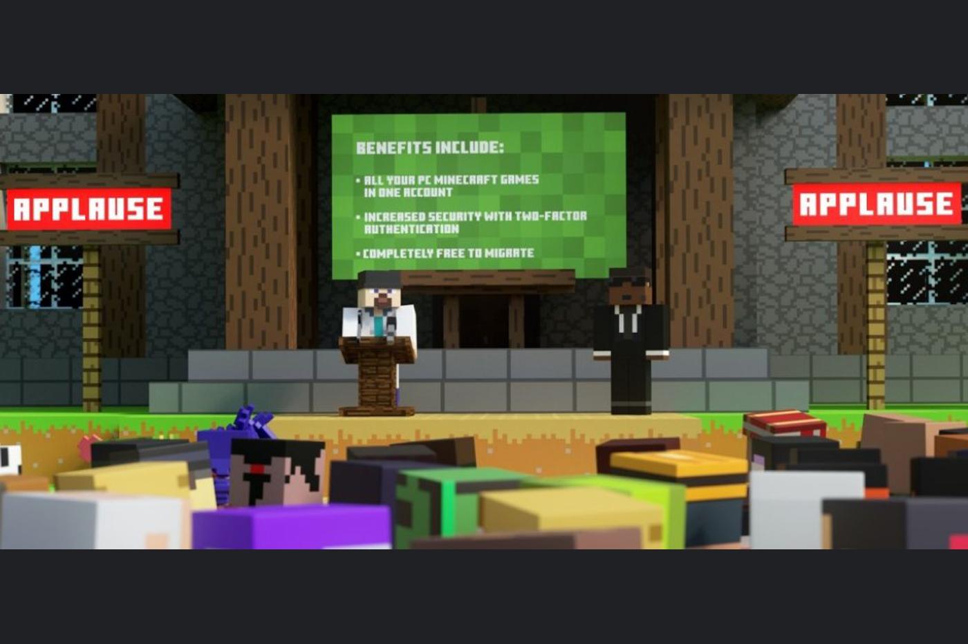 En 2021, Minecraft va imposer un compte Microsoft à tous les joueurs