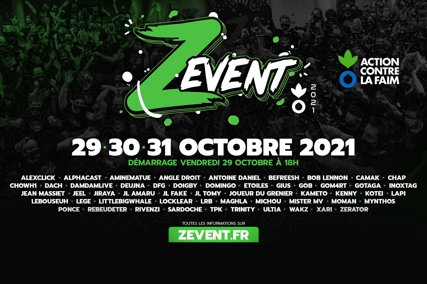 ZEvent 2021: les dates le l'événement annoncées, en soutien à…